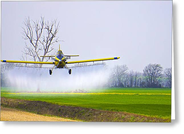 Precision Flying - Crop Dusting 1 Of 2 Greeting Card