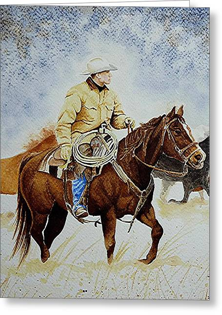 Cropped Ranch Rider Greeting Card