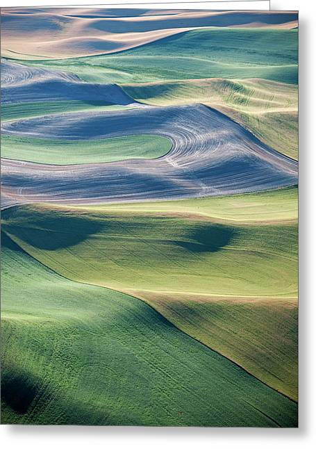 Crops And Contours Greeting Card by Doug Davidson