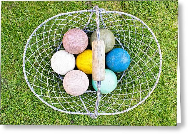 Croquet Balls Greeting Card