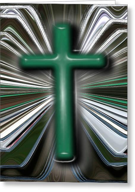 Cross Blast Greeting Card by Joshua Sunday