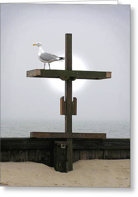 Cross At West Dennis Beach Greeting Card