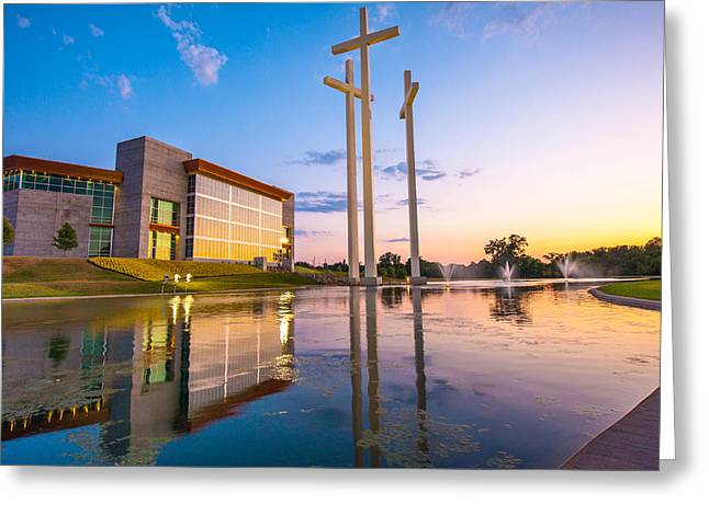 Cross Church Sunset - Bentonville - Rogers Arkansas Greeting Card by Gregory Ballos