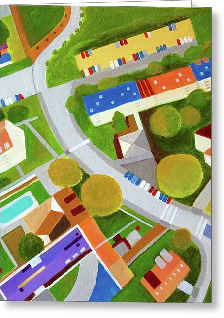Cross Country Roads Greeting Card