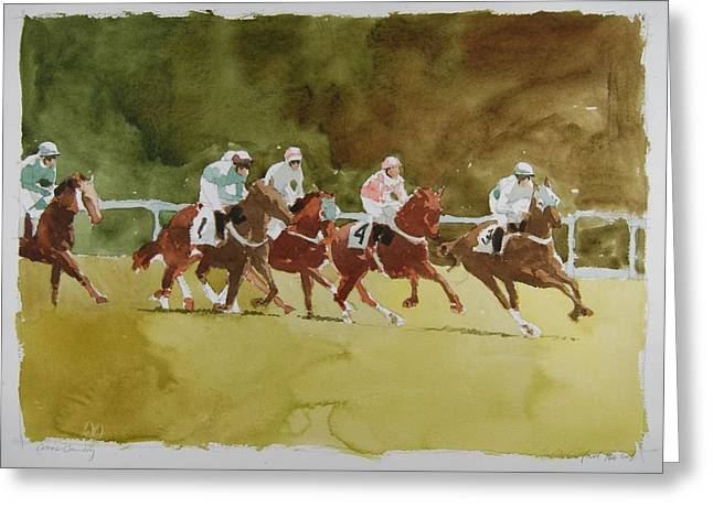 Cross Country Greeting Card by Stephen Rutherford