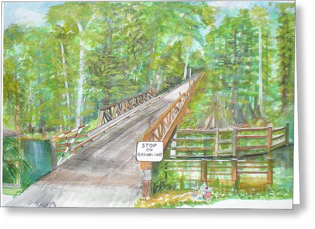 Cross Creek The Forest Greeting Card by Hal Newhouser