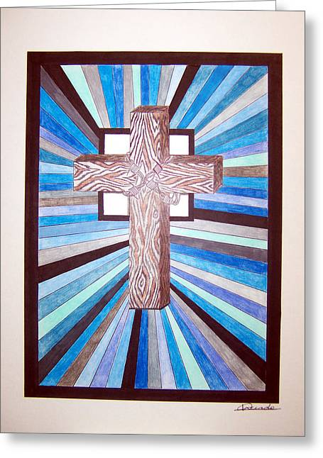 Cross Crucifix Greeting Card