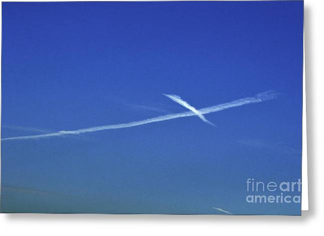 Cross In The Sky Greeting Card by Clayton Bruster