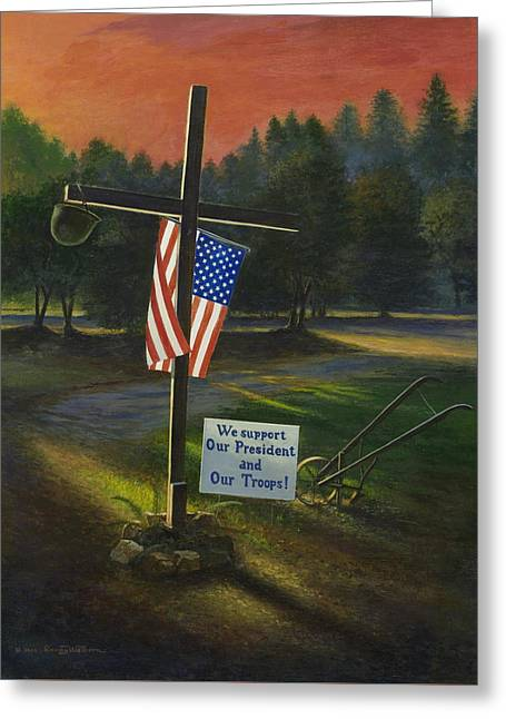 Cross Of Remembrance Greeting Card