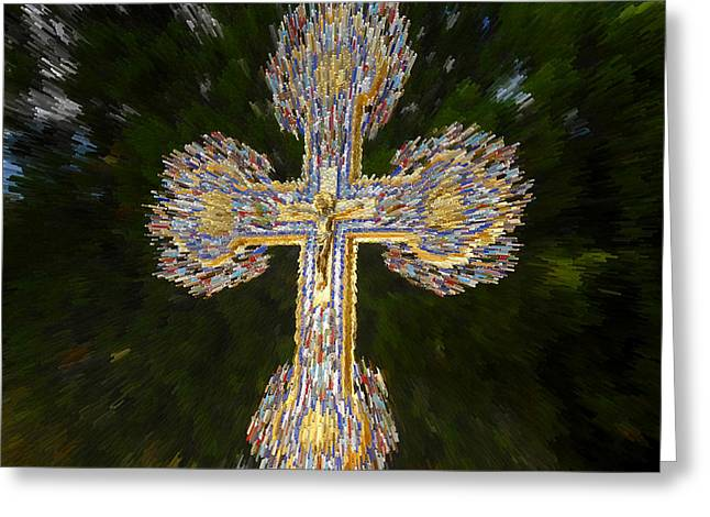 Cross Of The Epiphany Greeting Card by David Lee Thompson