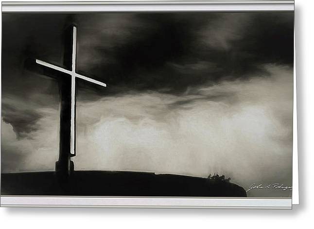 Cross On A Hill Greeting Card