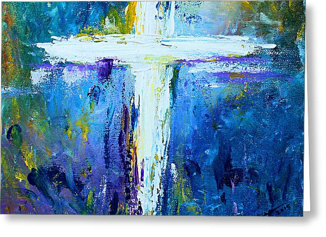 Cross - Painting #4 Greeting Card