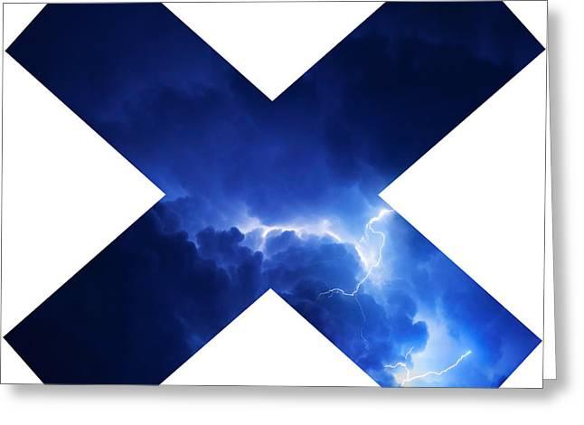 Cross Storm Greeting Card by Taylan Apukovska