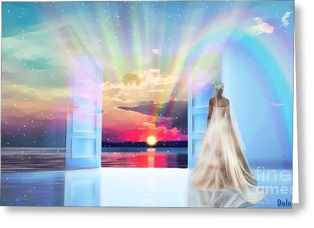 Cross The Crystal Sea Greeting Card