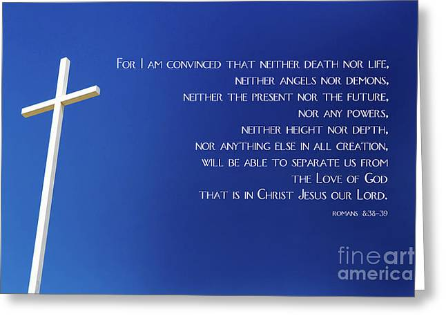 Cross With Blue Sky Greeting Card