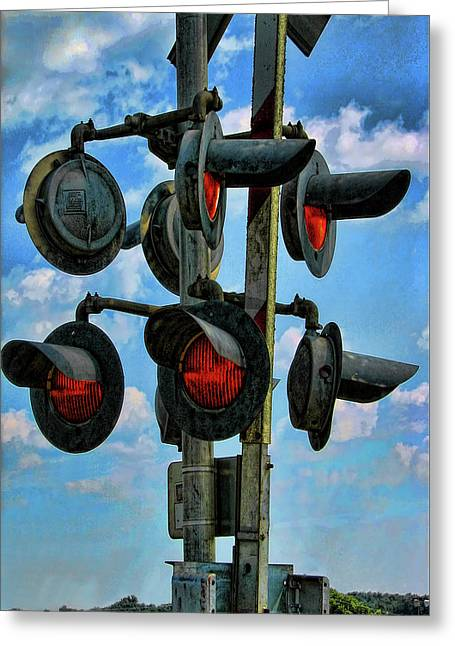 Crossed Signals Greeting Card