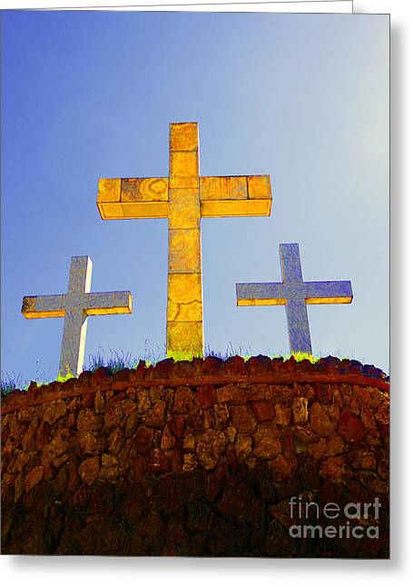 Crosses To Bear Greeting Card by Al Bourassa