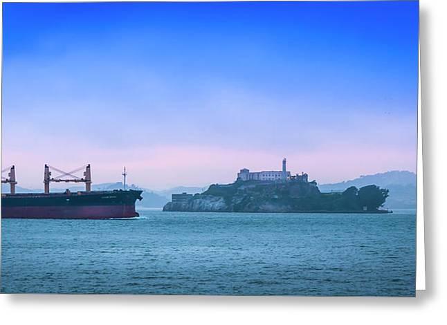 Crossing Alcatraz Greeting Card