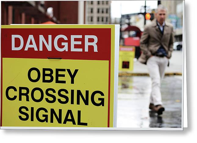 Crossing  Greeting Card by Jerry Cordeiro