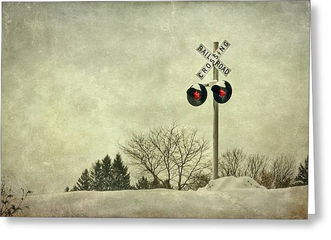 Rails Greeting Cards - Crossing Over Greeting Card by Evelina Kremsdorf