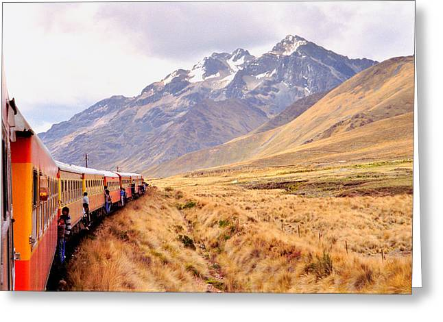 Greeting Card featuring the photograph Crossing The Andes by Nigel Fletcher-Jones