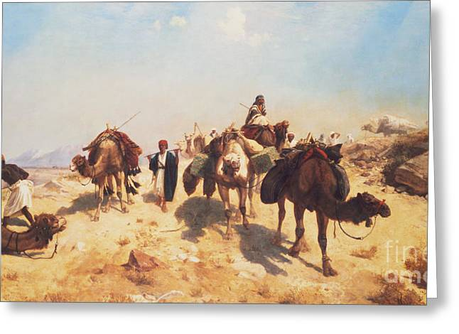 Crossing The Desert Greeting Card