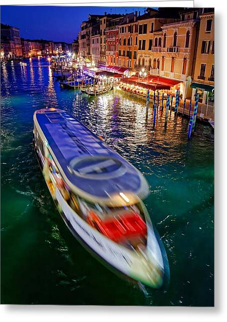 Crossing The Grand Canal Greeting Card