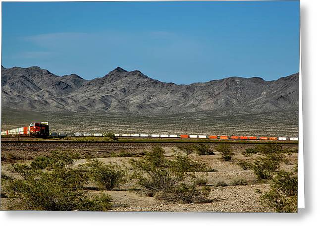 Crossing The Mojave Greeting Card by Mountain Dreams