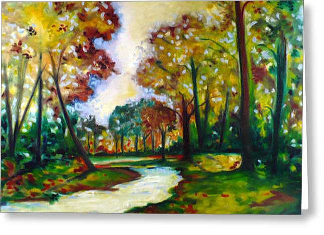 Greeting Card featuring the painting Crossroads by Emery Franklin