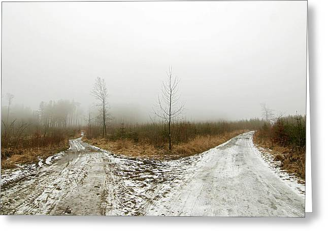 Crossroads Greeting Card by Michal Boubin