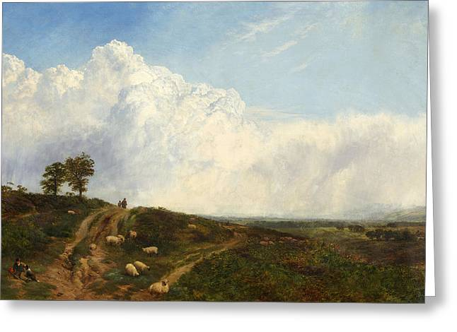 Crossroads Over The Heath Greeting Card by George Vicat Cole