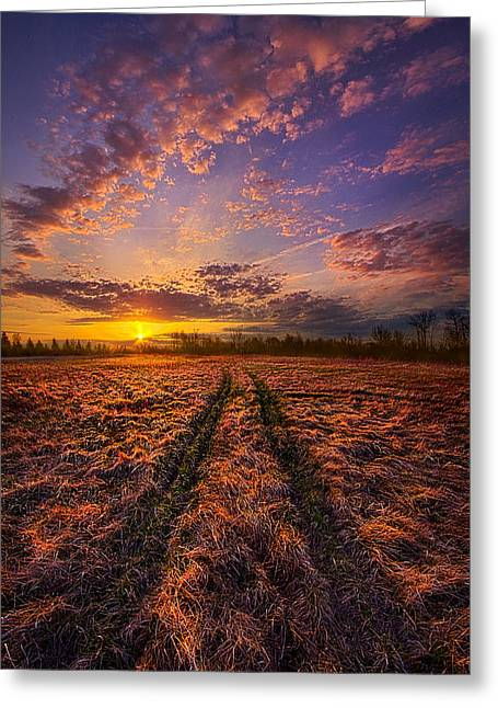 Crossroads Greeting Card by Phil Koch