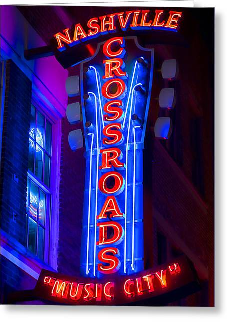 Music City Crossroads Greeting Card by Stephen Stookey