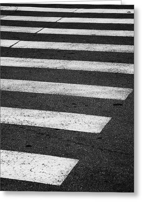Crosswalk Greeting Cards - Crosswalk Greeting Card by Gabriela Insuratelu