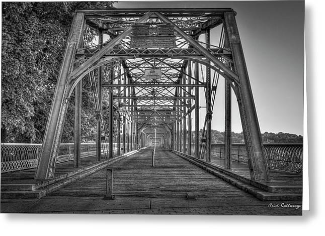 Crossway Connection Walnut Street Pedestrian Bridge Chatanooga, Tennessee Art  Greeting Card by Reid Callaway