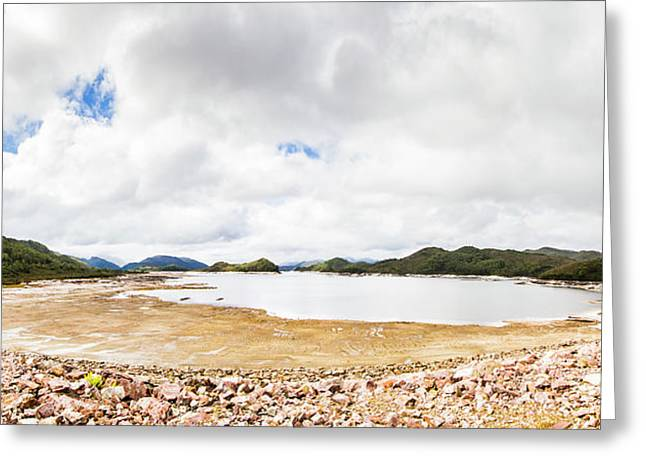 Crotty Dam Tasmania Panorama Greeting Card by Jorgo Photography - Wall Art Gallery