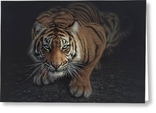Crouching Tiger Greeting Card