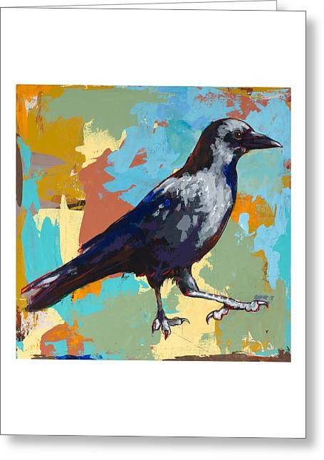 Crow #2 Greeting Card by David Palmer