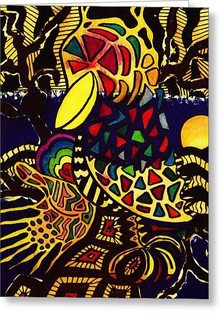 Crow Greeting Card by Gayland Morris
