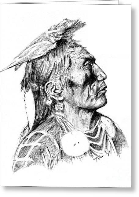 Crow Medicine Man Greeting Card