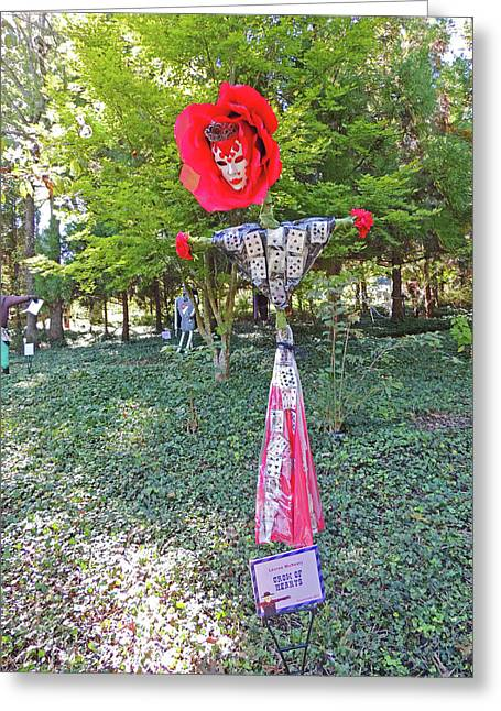 Crow Of Hearts Scarecrow At Cheekwood Botanical Gardens Greeting Card