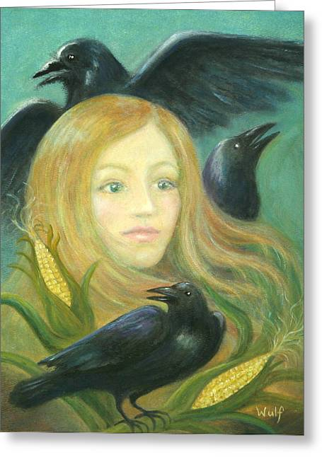 Crow Queen Greeting Card
