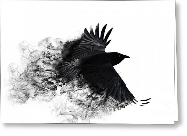 Crow Wallpaper Greeting Card