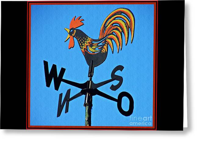 Crowing In The Wind Greeting Card by Sarah Loft