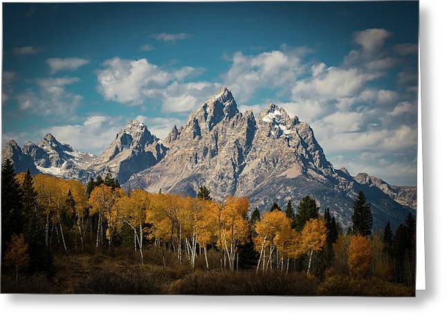 Crown For Tetons Greeting Card by Edgars Erglis