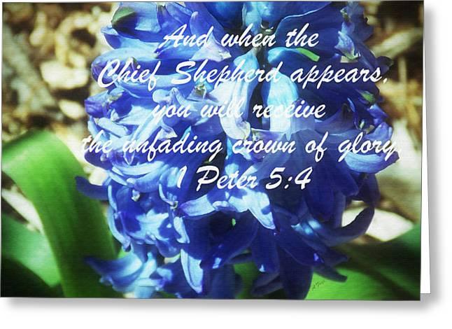 Crown Of Glory - Verse Greeting Card by Anita Faye