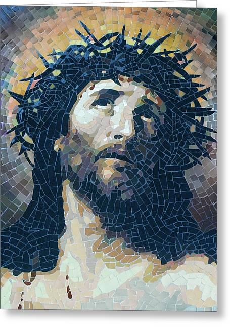 Crown Of Thorns 2 - Ceramic Mosaic Wall Art Greeting Card