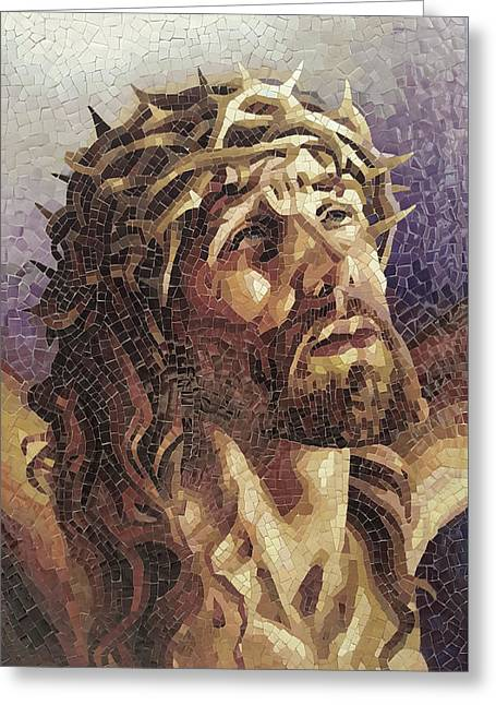 Crown Of Thorns 3 - Ceramic Mosaic Wall Art Greeting Card