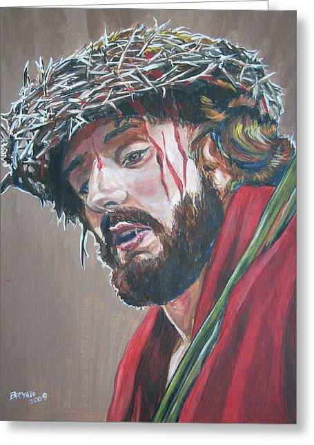 Crown Of Thorns Greeting Card by Bryan Bustard