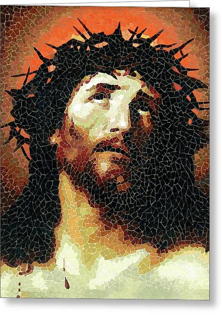Crown Of Thorns - Ceramic Mosaic Wall Art Greeting Card
